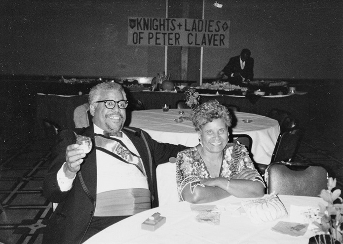 In an undated photo Thomas Brito Sr. and his late wife, Laura, attend a Knights and Ladies Auxiliary of Peter Claver function. Photo Courtesy of Brito Family